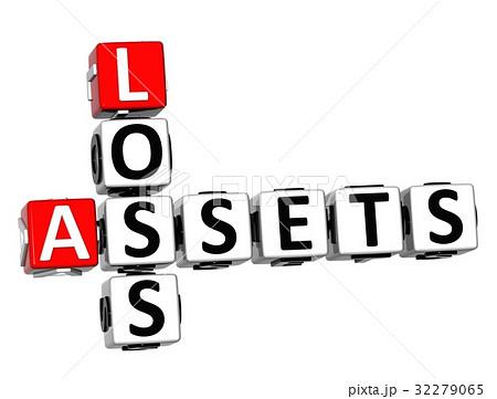 3D Assets Loss Crosswordのイラスト素材 [32279065] - PIXTA