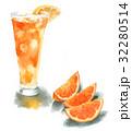 カットオレンジとオレンジジュース 32280514