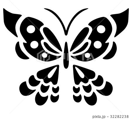 年賀素材「蝶」 32282238