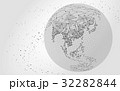 World map point, line black white 32282844