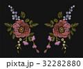 刺しゅう 刺繍 フローラルのイラスト 32282880