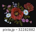 刺しゅう 刺繍 フローラルのイラスト 32282882