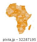 アフリカ アフリカ大陸 マップのイラスト 32287195