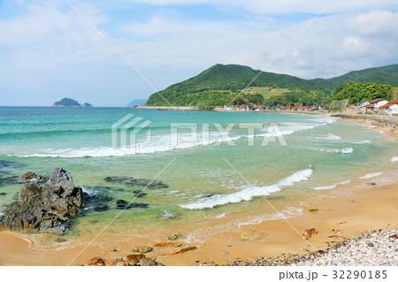 山口県 風光明媚な海の風景 32290185