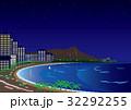 ワイキキビーチの夜景イラスト 32292255