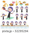 女性 アラブ 人物のイラスト 32295294