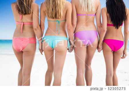 Portrait of friends posing at the beach 32305273