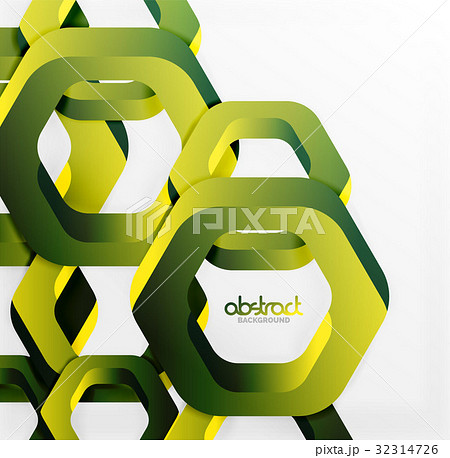 Overlapping hexagons design background 32314726