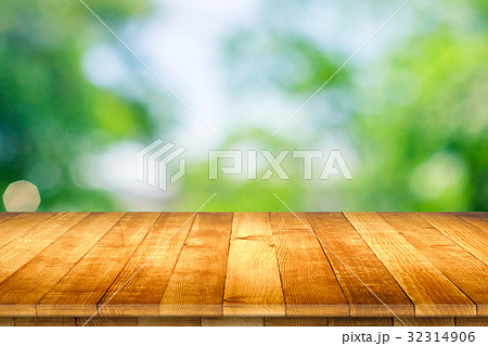 Rustic wooden table vintage style in perspective 32314906