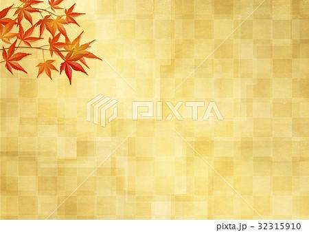 和を感じる背景素材 (金箔、市松模様、紅葉) 32315910