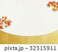 和を感じるイラスト(紅葉、和紙) 32315911