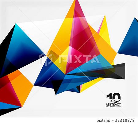 3d triangles geometric vector 32318878