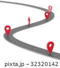 Road infographic with pin pointer. Navigation 32320142