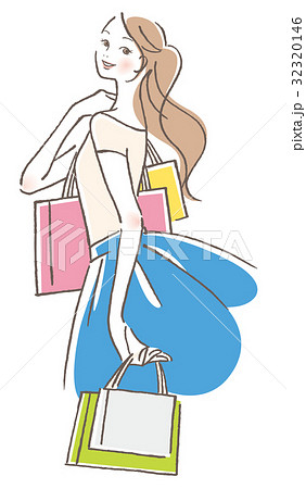 ショッピング 女性 32320146