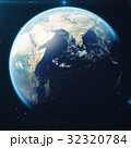 3D Rendering Planet earth from the space at night 32320784