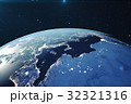3D Rendering Planet earth from the space at night 32321316