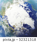3D rendering Earth close-up view, top view. Near 32321318