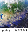 3D rendering Earth close-up view, top view. Near 32321324