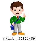 学校 少年 男の子のイラスト 32321469