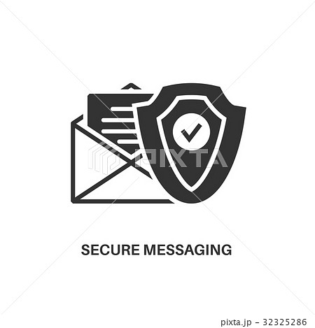 secure messaging icon 32325286