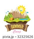 Vector summer campinng concept illustration 32325626