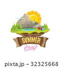 Vector summer campinng concept illustration 32325668