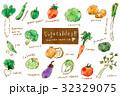 野菜アラカルト 水彩画風 32329075