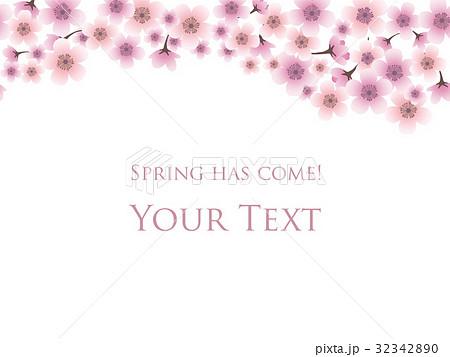 桜の背景 8のイラスト素材 [32342890] - PIXTA
