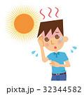 熱中症 日射病 男性のイラスト 32344582