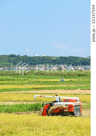 秋の収穫作業 32347504
