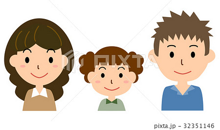 家族(父、母、女の子) 32351146