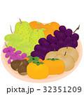 秋 くだもの 果実のイラスト 32351209