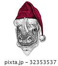 Rhinoceros, rhino Christmas illustration Wild 32353537