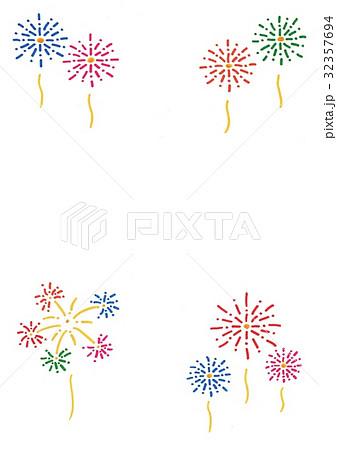 花火 手描きイラストのイラスト素材 32357694 Pixta
