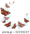 heart of butterflies on white background 32359237
