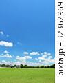 青空と新緑の公園広場 32362969