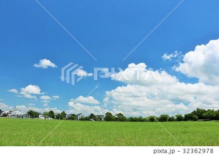 気持ちいい青空の公園 32362978
