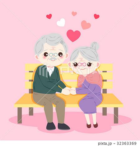 cute cartoon old couple 32363369