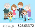 happy cartoon family 32363372