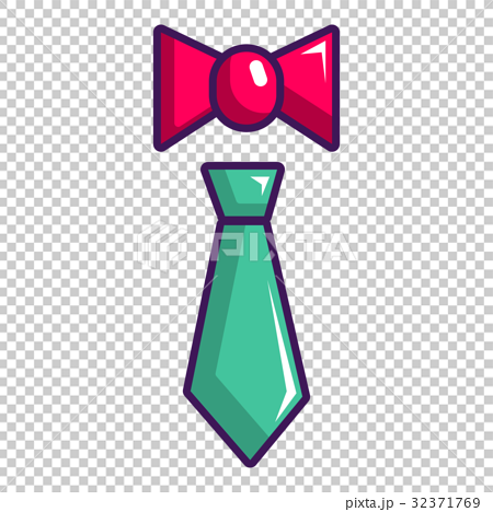 Tie and bow tie icon, cartoon style 32371769