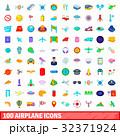 100 100 飛行機のイラスト 32371924
