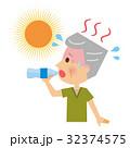 熱中症 水分補給 シニア 32374575