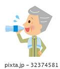 水分補給 水 飲むのイラスト 32374581