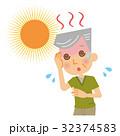 熱中症 日射病 シニア 32374583