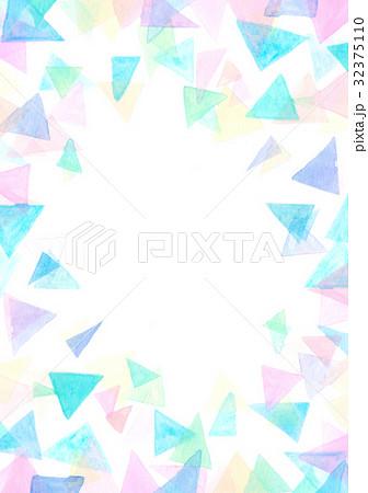 水彩テクスチャー 幾何学模様 フレーム 32375110