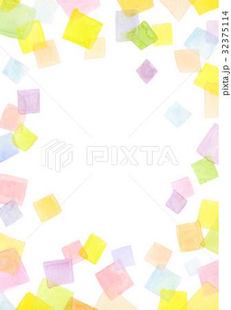 水彩テクスチャー 幾何学模様 フレーム 32375114