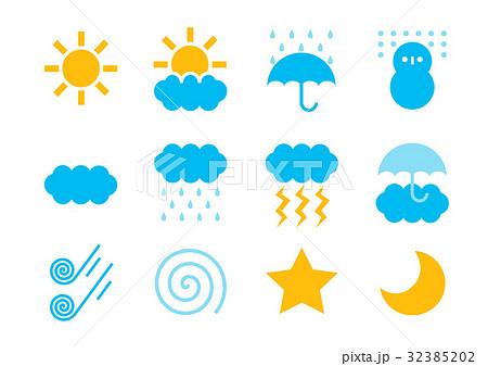天気 イラスト アイコン セット カラー 32385202