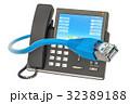 フォン 電話 ケーブルのイラスト 32389188