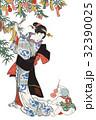 歌川国貞 豊歳五節句遊 七夕のイメージイラスト 32390025