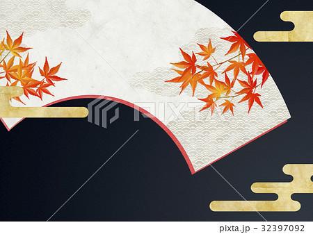 和を感じる背景素材(扇) 32397092
